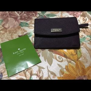 Kate Spade Laurel Way Petty Wallet, Mahogany. NWOT